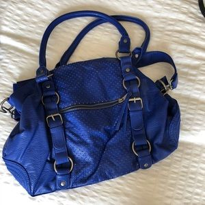 Electric blue purse